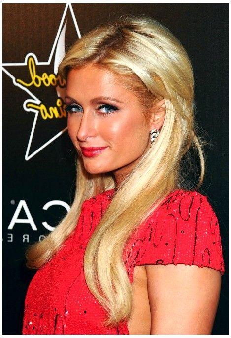 Paris Hilton geschichteten lange blonde Frisuren - #Blonde #Frisuren #Hilton # Länge #Paris