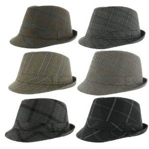 KB ETHOS Jeremy Polyester Plaid Vintage Fedora Mens Hat (Apparel)
