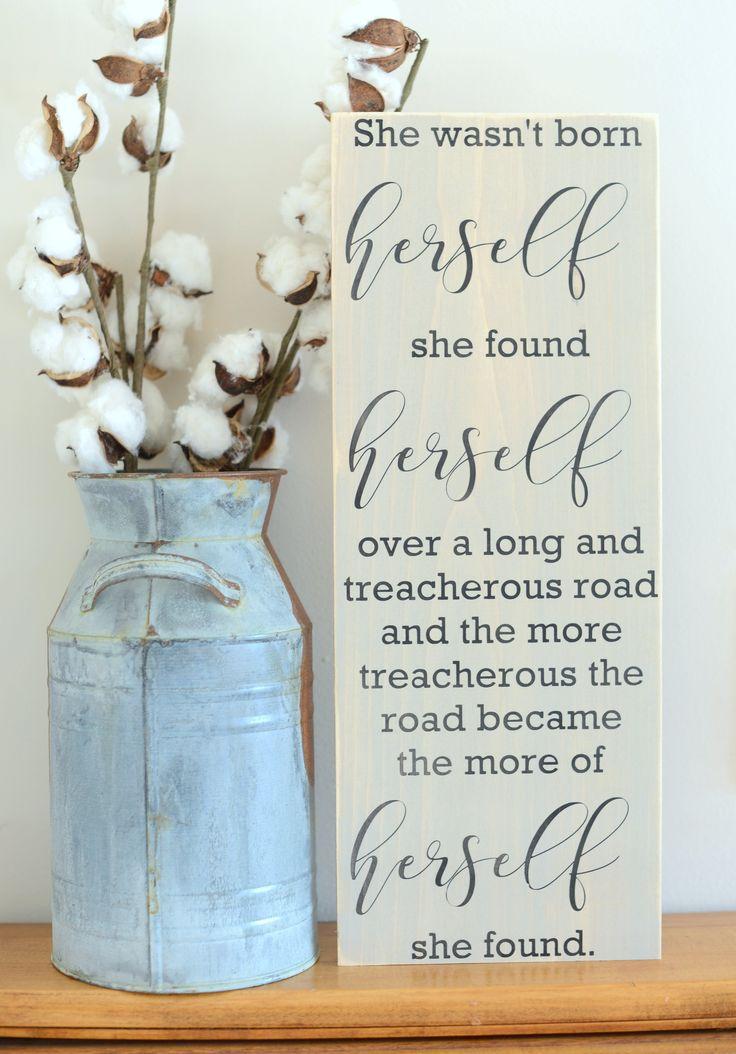 Inspirational Women Wood Sign