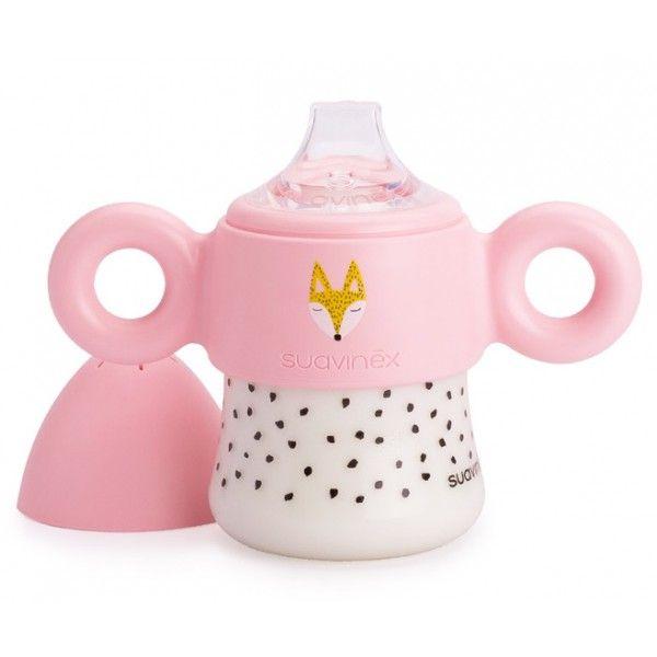 Roze antilekbeker met handgrepen #suavinex #baby #pink #littlethingz2
