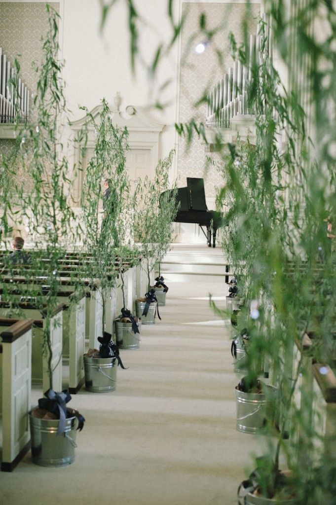 Living Tree Aisle Markers Wedding Ideas