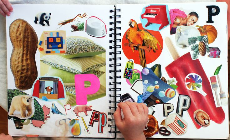 This alphabet book is one of my favorite projects for preschoolers. We started about a year ago and add to it as we get catalogs or magazines to cut up. Each letter has a page or two where we pas...
