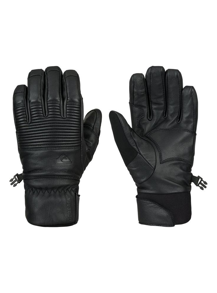 The Quiksilver Travis Rice Natural GORE-TEX Gloves are full leather gloves that feature a Gore-Tex® liner to keep your hands dry inside and out. Their breath-ability will also allow you to keep your temperature moderated on cloudless and warmer days. Keep your paws warm and dry and go to Quiksilver.