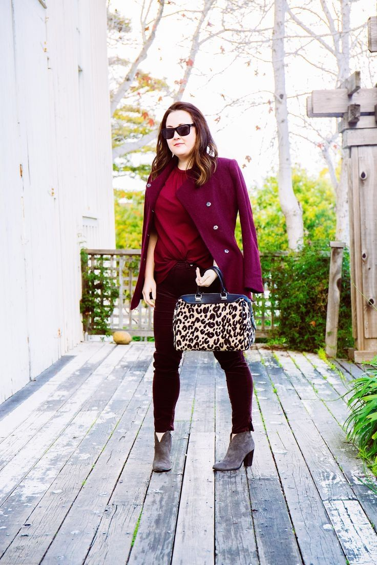 A easy to put together monochromatic workday look for Winter.
