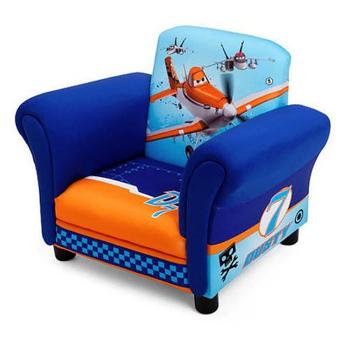 Disney Planes Upholstered Chair features Dusty Crophopper