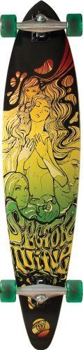 """Sector 9 Fanatic Complete Skateboard, Rasta, 9.2-Inch x 40.0-Inch by Sector 9. $159.00. From the Manufacturer                The story of the nineball starts in our La Jolla backyard in 1993. At the time our house consisted of a bunch of good friends, a half pipe, pool table, ping pong table and shaping room all just across the street from some nice smooth hills down to the reefs. One of our friends from Hawaii who used to call people """"nine balls"""" all the time in a friendly razz..."""