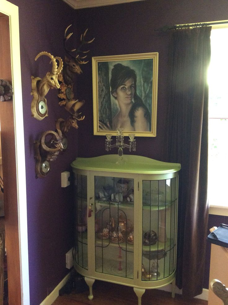Metallic china cabinet, this wee cutie had a borer issue, I loved her back to life