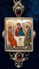 Святая Троица панагия, панагии, панагия купить, золотые панагии, панагия из золота, филигрань иконы