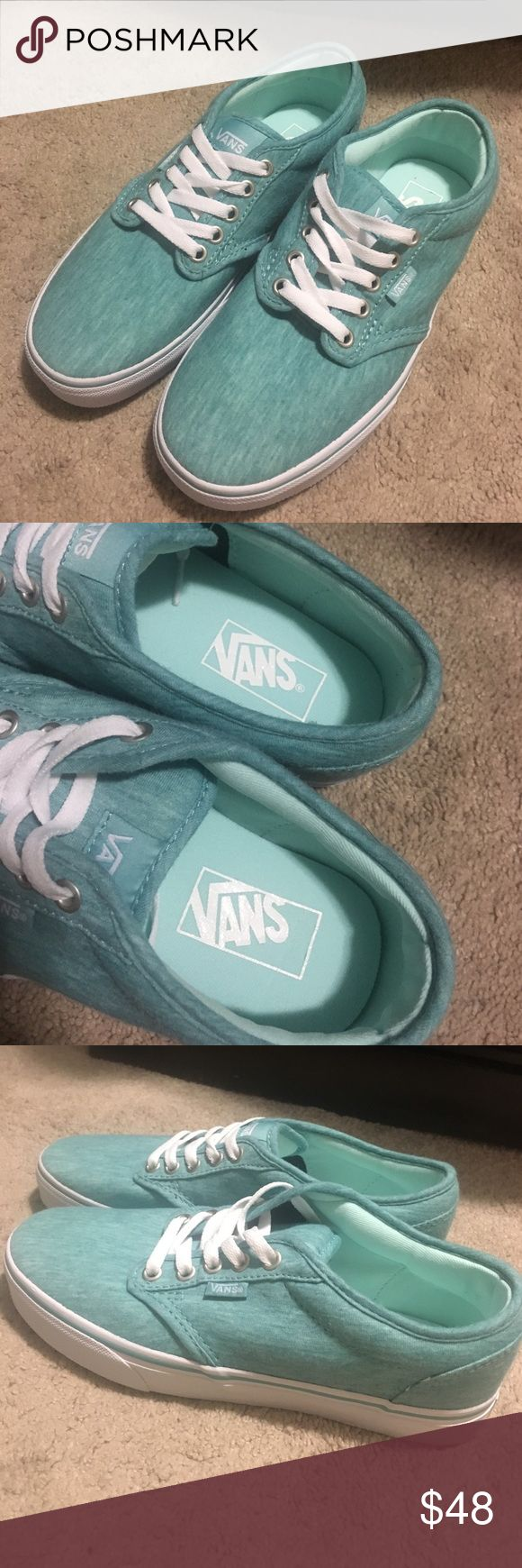 Brand new Vans Brand new, never worn. Tiffany blue color Vans Shoes Sneakers
