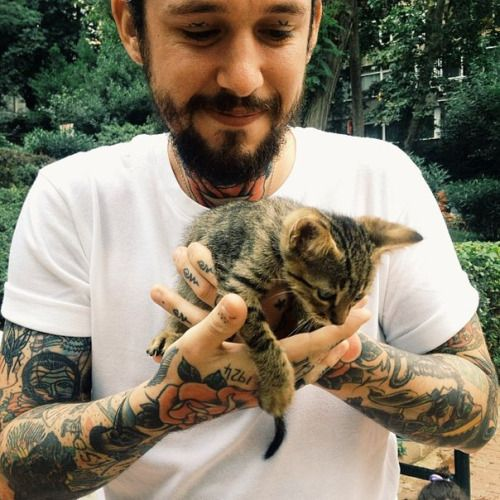 Hot Tattooed Men with Cute Animals