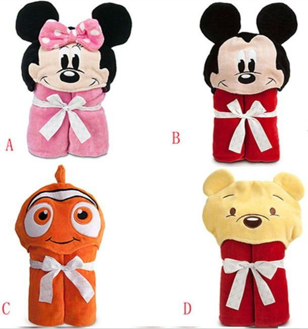 Hot!Retail towel brand minnie mickey boy girl Animal Baby bathrobe/hooded animal costumes beach towels clearance $13.64