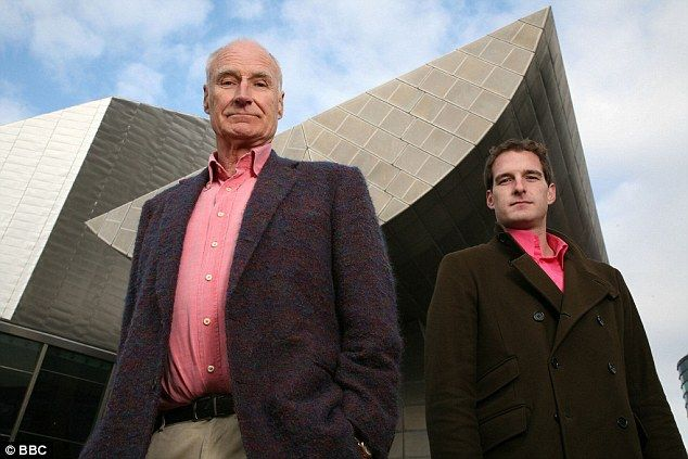 Dan Snow (right) first appeared on TV with his father Peter Snow (left) and  is the great-great-grandson of British Prime Minister David Lloyd George and great-grandson of World War I general Sir Thomas D'Olyly Snow. History presenter Dan Snow and his heiress wife Lady Edwina Grosvenor have said they do not want their huge inheritance to be a burden to their children and might give it away to charity.