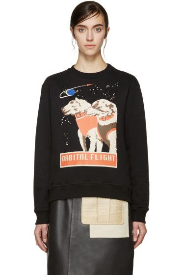 J.W.Anderson - Black Space Dog Sweatshirt