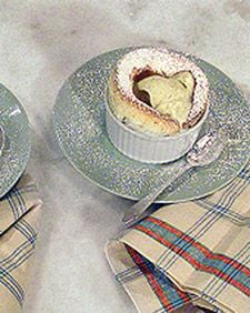 Impress guests with renowned chef Todd English's signature recipe for individual vanilla souffles.