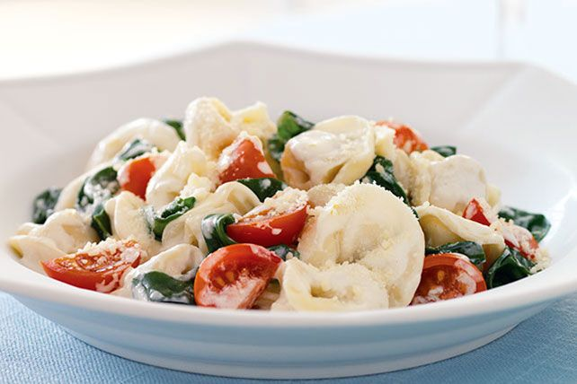 How easy is it top your favorite restaurant's tortellini? Very easy—and quick, too! Cream cheese is the secret ingredient.