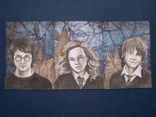 Harry Potter Tryptic ATC's