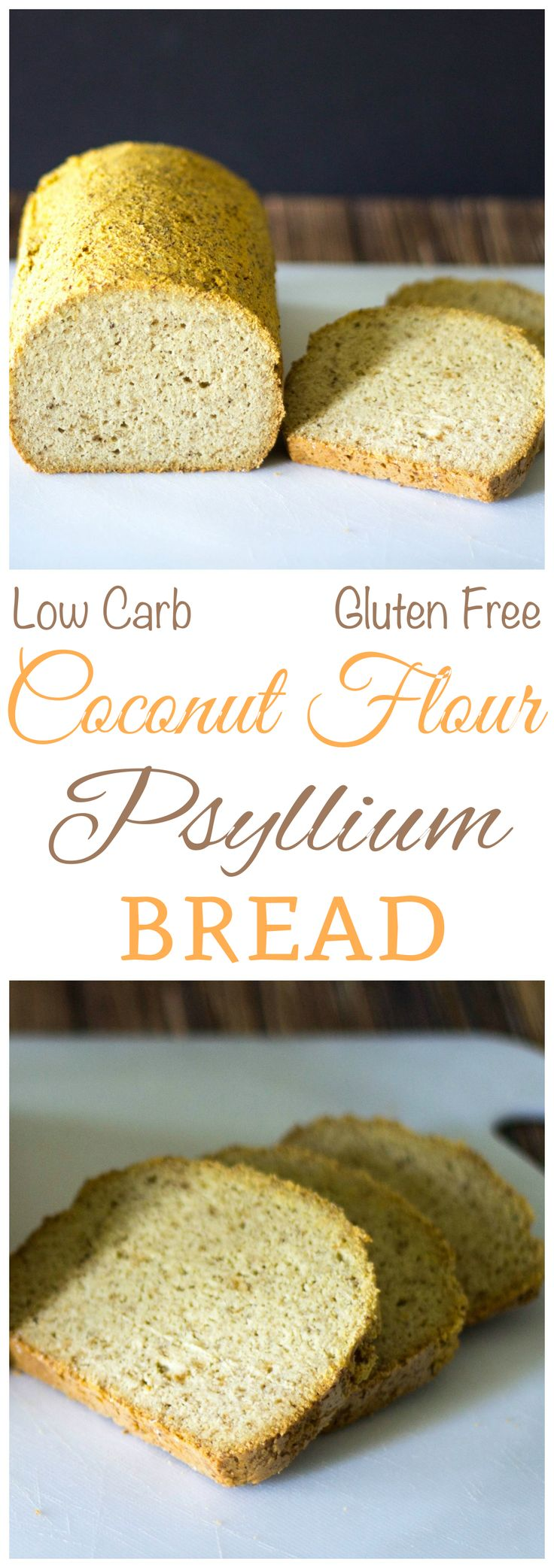Want an easy low carb keto Paleo bread? Try this gluten free coconut flour psyllium husk bread recipe. It's a tasty bread to serve with breakfast or dinner.