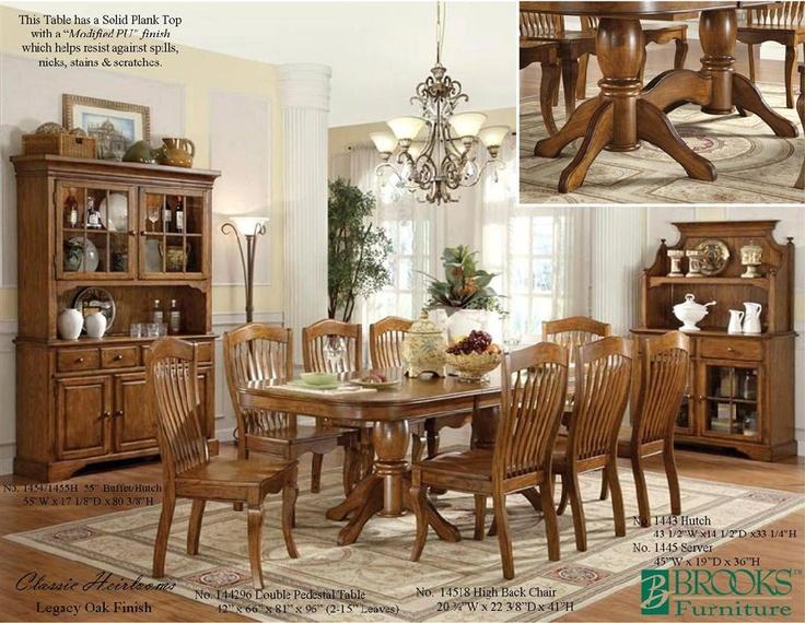 Classic Heirlooms Legacy Oak Dining Set