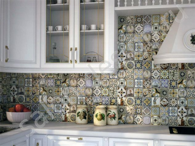 Плитка Monopole Antique. Испанская плитка для стен. Плитка для стен под изразцы. Фото плитки в интерьере