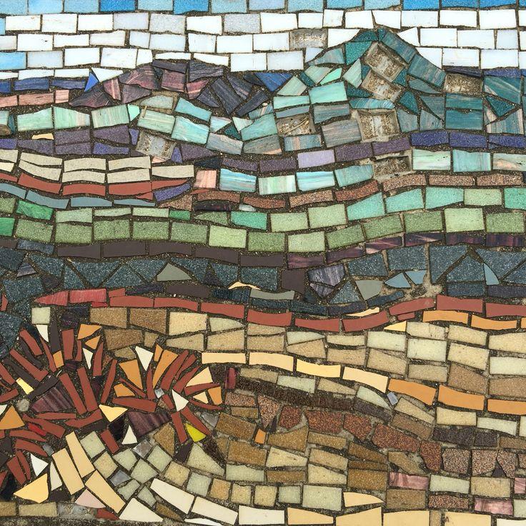 Glasshouse Mtns pathway mosaics