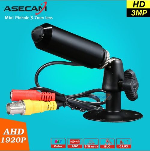 Camara HD  AHD de 3 MP espías punta de aguja para Circuito Cerrado de TV