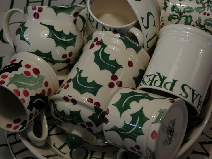 my Christmas Toast & Holly all made by Emma Bridgewater