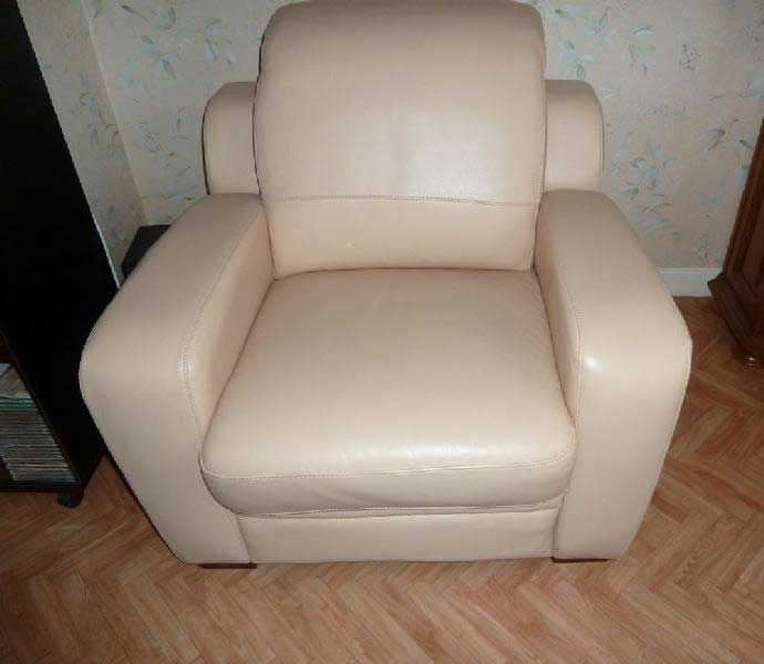 Fauteuil En Cuir Blanc Occasion 20170705193957 In 2020 Furniture Armchair Decor