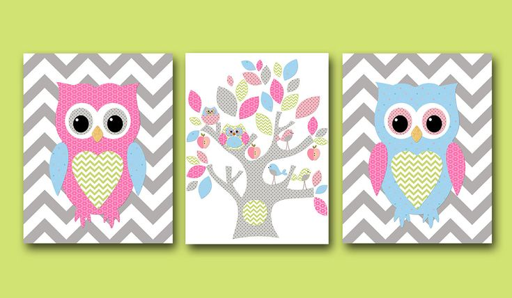Owl decor owl nursery baby girl nursery decor children art for Baby owl decoration