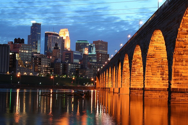 Stone Arch Bridge Minneapolis, MN  Been there=--awesome