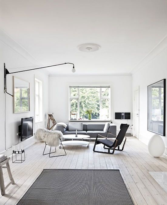 Mixing materials in a Copenhagen family home.