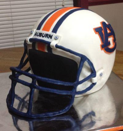 Auburn University Football Helmet Grooms Cake.  See @cnandress, cake creator.  #footballwedding