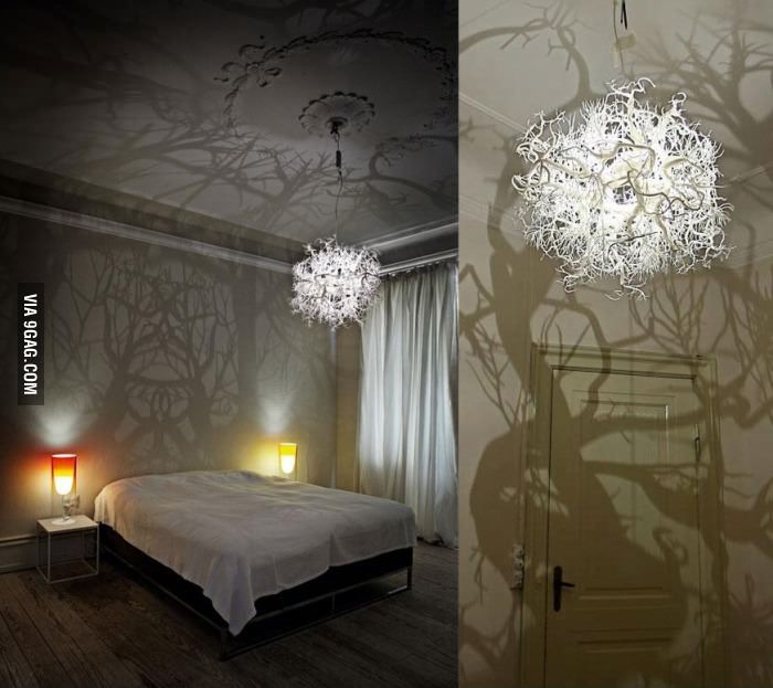 Chandelier Turns Room Into A Forest