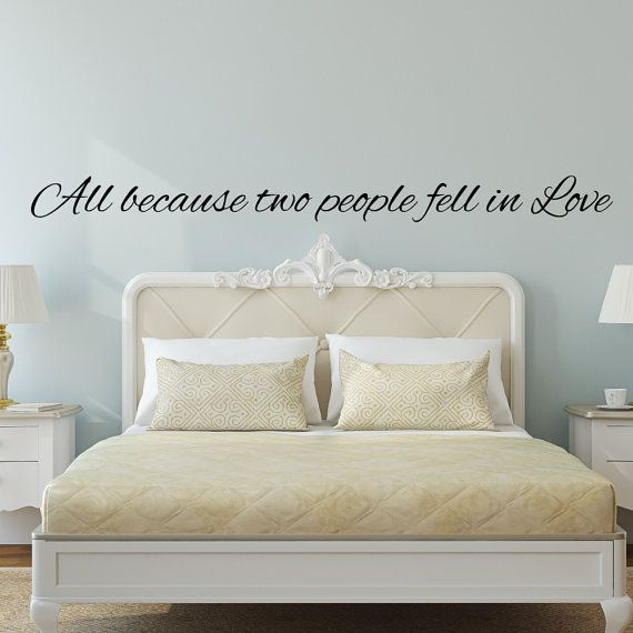 Wall Decals Bedroom Wall Decals All Because Two By Luxeloft