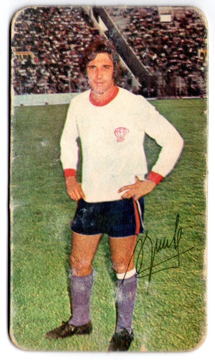 Figurita Tarjeton Super Futbol 1971 Alfio Basile #109  Huracan