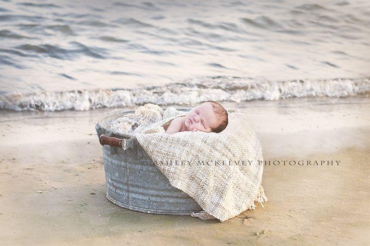 Newborn Photography   Newborn beach photography   ©Ashley McKelvey Photography