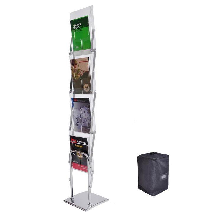 Literature Stand Magazine Brochure Holder Rack 4 Pocket