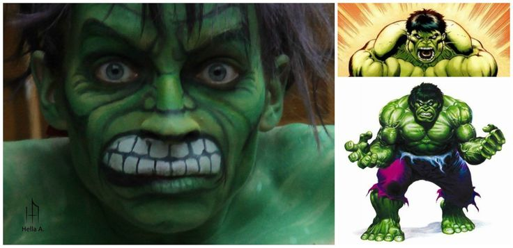 Hulk's Makeup; FaceBook page : http://tiny.pl/gmn5p  Instagram -> @hella_a_oficiall #makeup #art #facepaint #facepaiting #hulk #avengers #marvel #comics