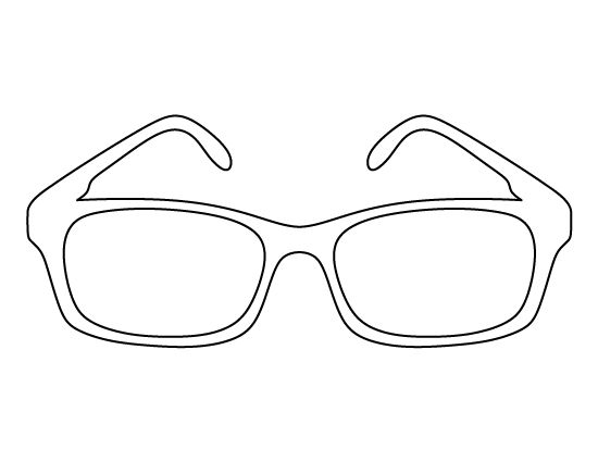 Glasses pattern. Use the printable outline for crafts, creating stencils, scrapbooking, and more. Free PDF template to download and print at http://patternuniverse.com/download/glasses-pattern/