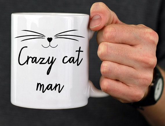 Crazy Cat Man Mug Kitten Mug Cat Face by TheBestOfMeDesigns
