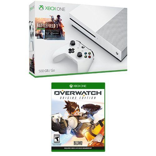 Xbox One S 500GB Console  Battlefield 1 Bundle  Overwatch  Origins Edition Game >>> Read more reviews of the product by visiting the link on the image.Note:It is affiliate link to Amazon.
