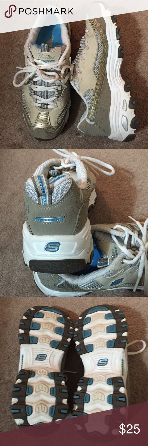 Sketchers Sneakers Sketchers Sneakers D'lites, size 7, only worn a couple times. Great condition see photos. Sketchers Shoes Athletic Shoes
