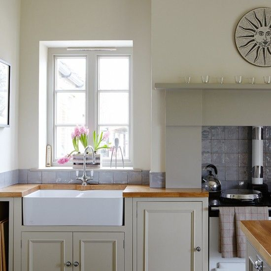Grey-green Shaker-style kitchen | Kitchen decorating | housetohome.co.uk