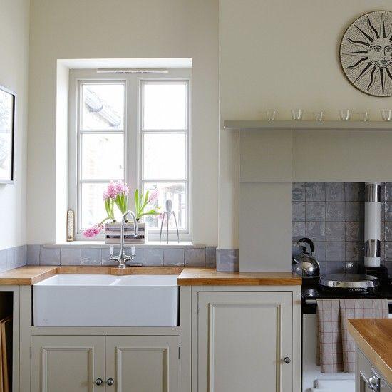 Grey-green Shaker-style kitchen | Country decorating ideas | Beautiful Kitchens | Housetohome.co.uk