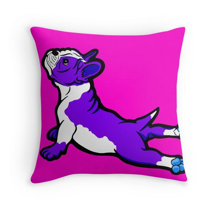 Boston Bull Terrier Puppy Purple