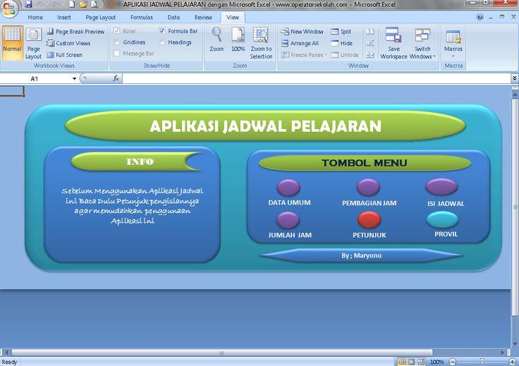[.xls otomatis] Software Jadwal Pelajaran Aplikasi Excel Free Download