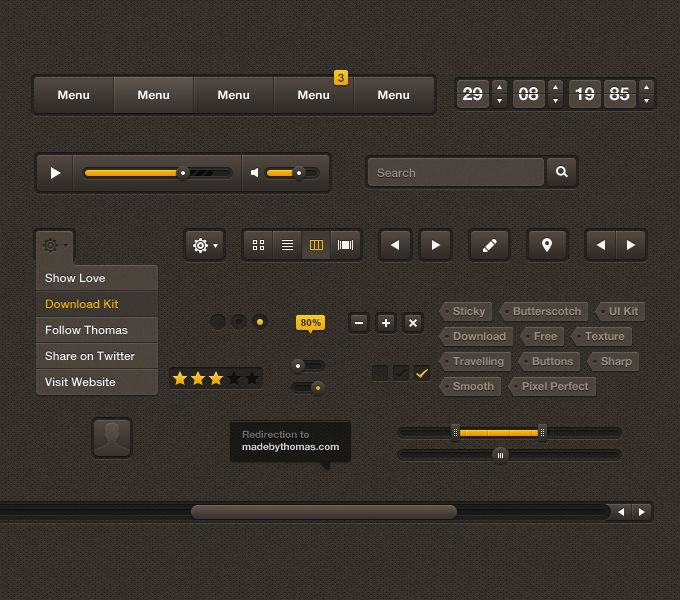 Sticky Butterscotch UI Kit