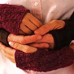 men's hand/wrist warmers  {excerpt from: Last-Minute Knitted Gifts; reprinted on this site with permission}