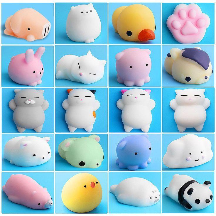 $12.19 20 Pcs Kawaii Squishies Mochi Squeeze Soft Squishy