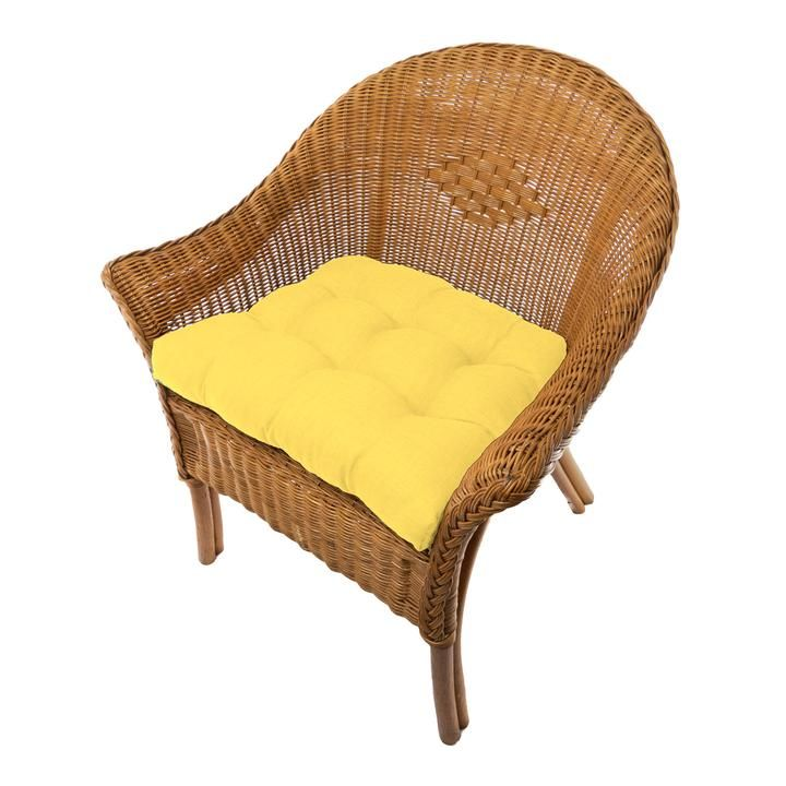 Rave Yellow Gold Indoor Outdoor Dining Chair Pads Patio