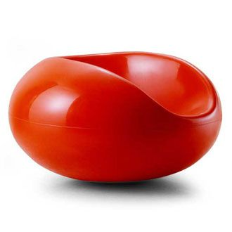 Eero Aarnio Pastil Chair | The shape and #color of this #chair remind me of a tomato. #chairjunky    http://attheoffice.com